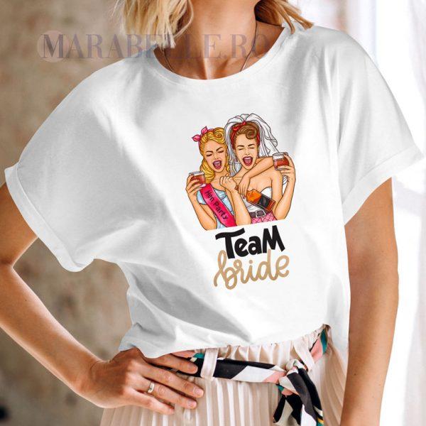 Tricou pentru petrecerea burlăciţelor Team Bride