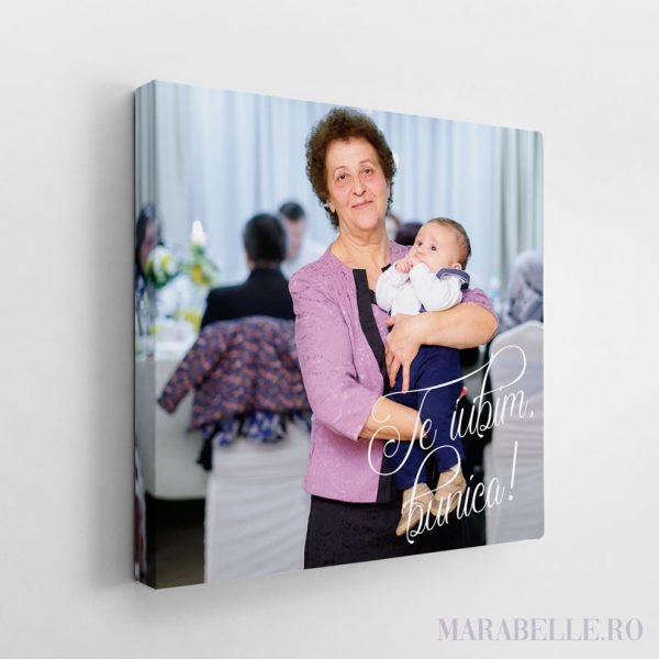 Tablou Canvas cadou pentru bunici, personalizat cu poză şi text