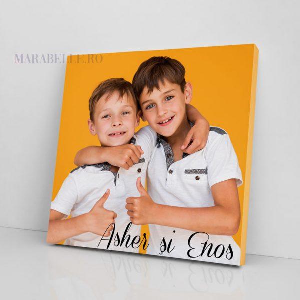 Tablou Canvas pentru fraţi, personalizat cu poză şi text