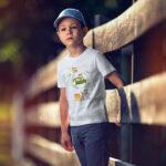 Tricou personalizat cu nume şi animăluţe Safari