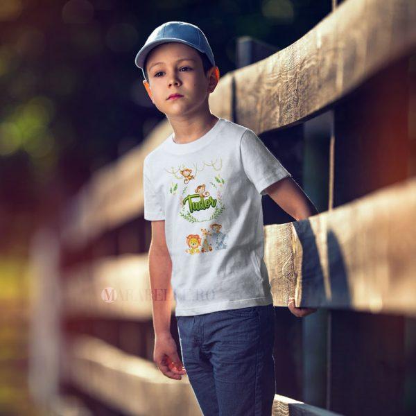 Tricou personalizat cu animăluţe Safari