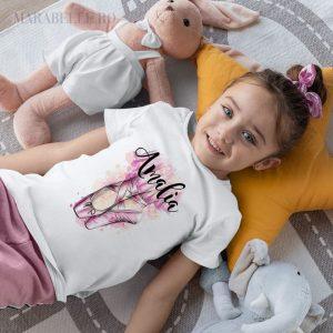 Tricou personalizat cu Poante Balet, pentru fetiţe