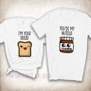 Tricouri amuzante pentru cupluri, You're My Nutella