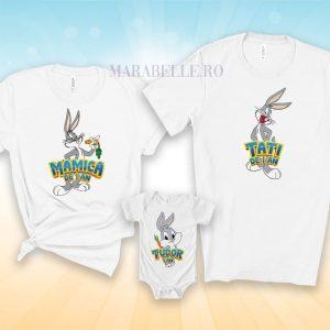 Body şi tricouri aniversare cu Bugs Bunny