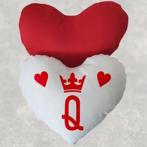 Pernă Dama de inimă roşie