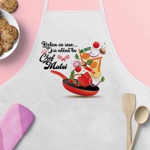 """Şorţ de bucătărie personalizat """"Belea ce iese..."""""""