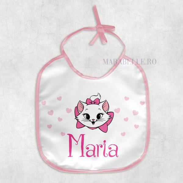 Baveţică personalizată cu pisicuţa Marie