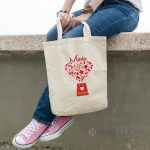 Geantă personalizată Loves Shopping