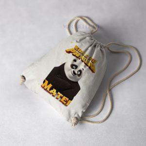 Rucsac textil pentru copii, personalizat cu Kung Fu Panda