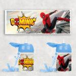 Sticluţă cu pai cu Spiderman, personalizată cu nume