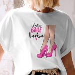 Tricou pentru femei Boss Babe, personalizat cu nume