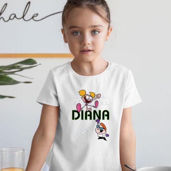 Tricou personalizat pentru copii, cu Laboratorul lui Dexter