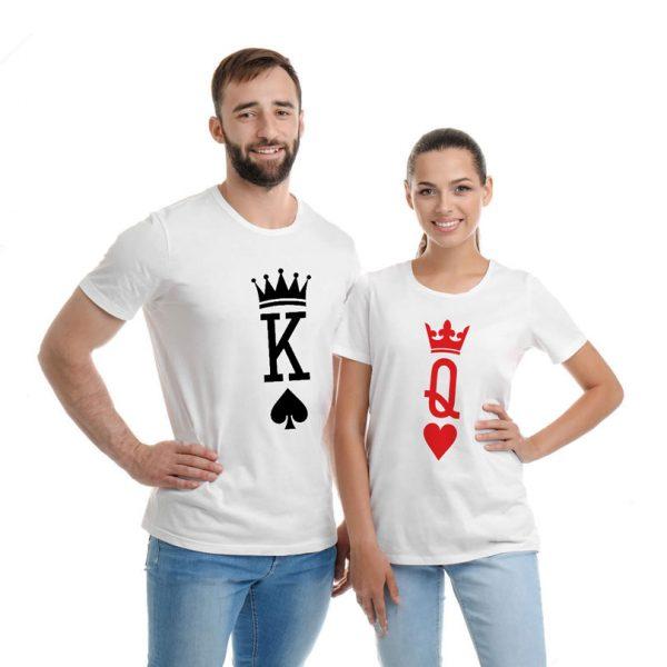 Tricouri King and Queen pentru cupluri