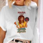 Tricou pentru femei, Love Retro Music, personalizat cu nume