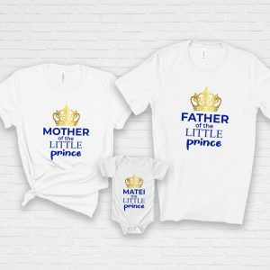 Tricouri aniversare Little Prince Roial, tăiere de moţ, coroană