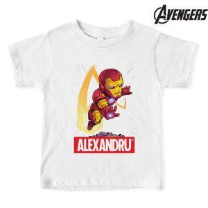 Tricou Iron Man personalizat cu nume, Marvel, Avengers