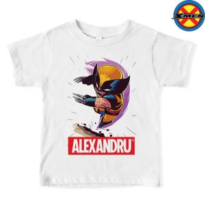 Tricou Wolverine personalizat cu nume, X-men, Marvel