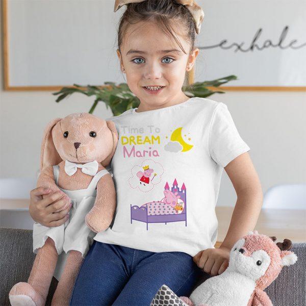Tricou personalizat Peppa Pig, pentru fetiţe