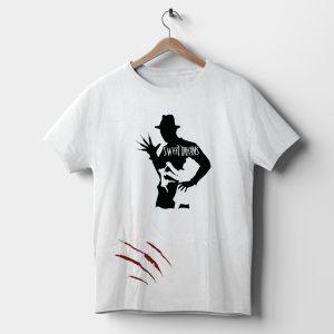 Tricou horror cu Freddy Krueger, pentru Halloween