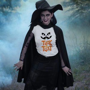 Tricou Halloween - Trick or Treat şi faţă de dovleac