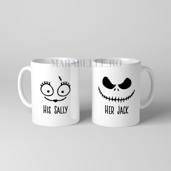 Căni Halloween pentru cupluri, His Sally Her Jack