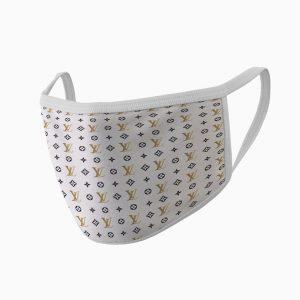 Mască de faţă de lux personalizată cu brand-ul Louis Vuitton