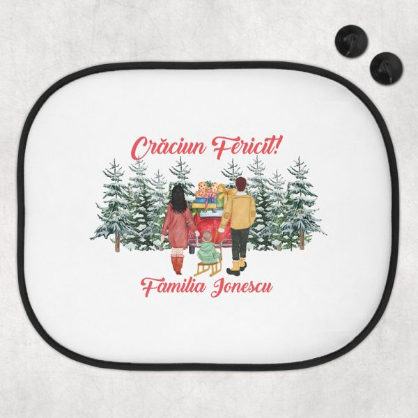 Cadou de Crăciun, Parasolar personalizat pentru familie cu copii