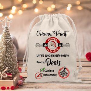 Tolbiţa lui Moş Crăciun, personalizata cu nume