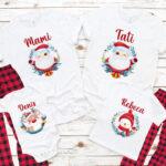 Set de tricouri pentru Crăciun pentru întreaga familie