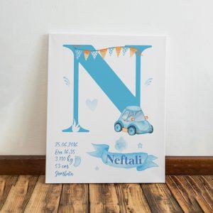 Tablou pentru copii personalizat, model băieţei, realizat din materiale premium