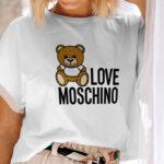 Tricou Love Moschino din bumbac 100%