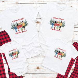 Tricouri de Crăciun personalizate cu silueta membrilor familiei