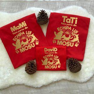 Tricouri Team Santa pentru cel mai fericit Crăciun, mânecă lungă