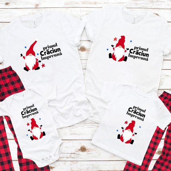 Tricouri cu Pitici, primul Crăciun împreună, cu mânecă scurtă