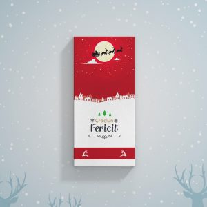 Ciocolată cadou de Crăciun personalizată