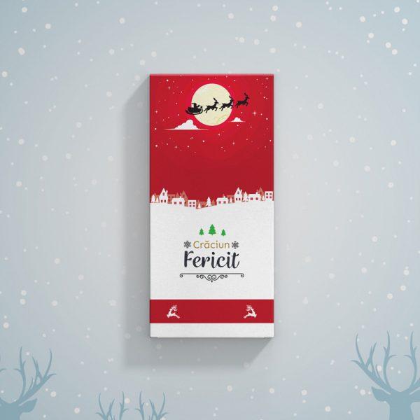 Ciocolată pentru Crăciun personalizată cu mesaj