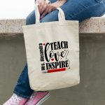 Cadou profesori – Geantă Teach, Love