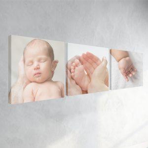 Tablou Multicanvas cu pozele bebeluşului