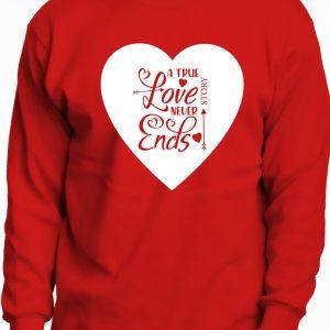 Tricou roşu Valentines, mânecă lungă, cadou îndrăgostiţi