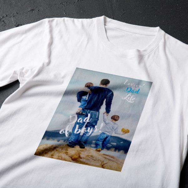 Tricou Tată de băieţi