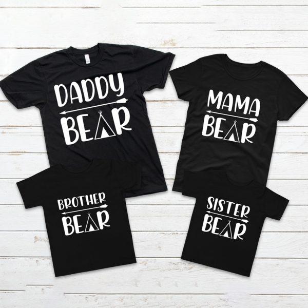 Tricouri Family Bear set de 3 bucăţi