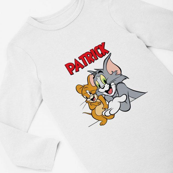 Body personalizat cu nume cu personajele Tom si Jerry