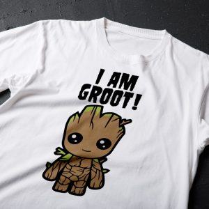 Tricou I Am Groot, personaj din Guardians of the Galaxy