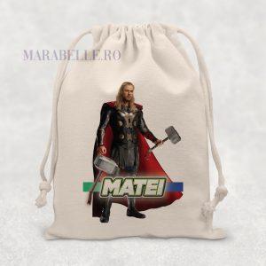 Săculeţ cu Supereroi - Thor personalizat cu nume