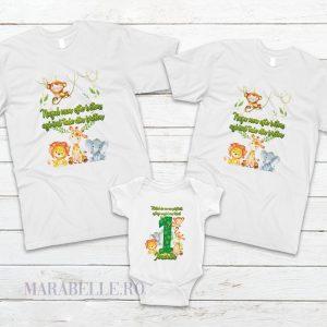 Tricouri cu animăluţe Safari, personalizate